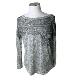 Sweet Claire textured long sleeve t-shirt